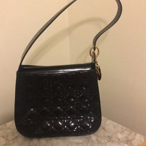Lady Dior patent leather quilted cannage bag